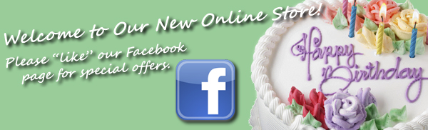 Welcome to our new online store please like us on facebook.